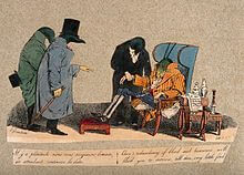 three_leeches_in_the_role_of_physicians_attend_a_grasshopper_in_the_role_of_the_patient_and_announce_a_course_of_bloodletting_wellcome_v0011722