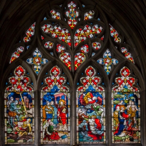 Beverley,_St_Mary's_church,_St_Paul_window_(25302612692)